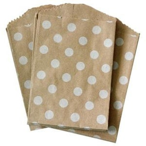 Image of Mini White Polka Dot Bags