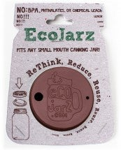 Image of Small Mouth Brown Silicon Ecojarz Lid