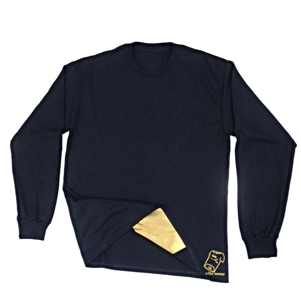Image of Black and gold Long sleeve Rolla Wear
