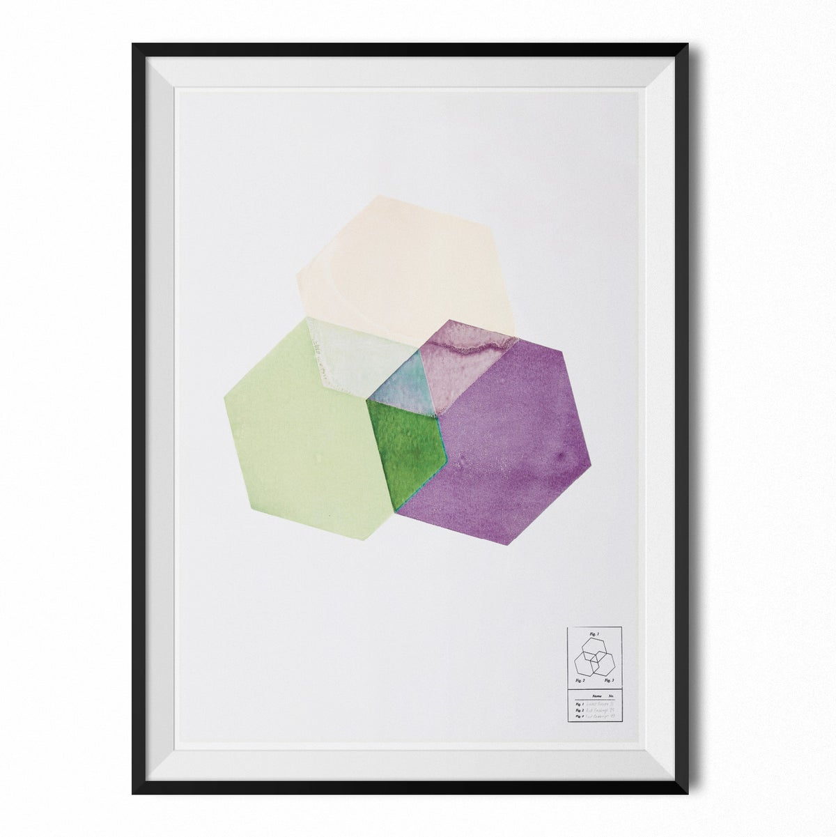 Image of Poster - Hexagon shapes #1 (70x100 cm)