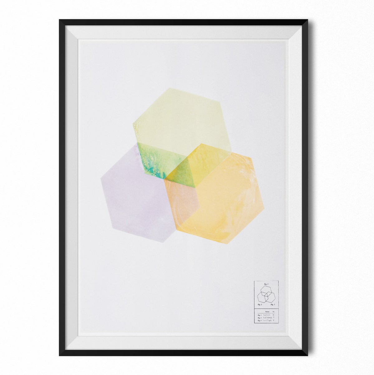Image of Poster - Hexagon shapes #2 (70x100 cm)