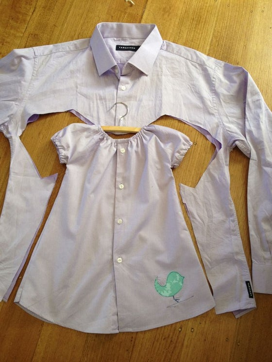 Image of ZOOM OR IN PERSON Make Daddy's Shirt into BABY CLOTHES Workshop