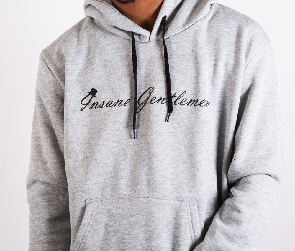 Image of Insane Gentlemen Original Hoodie Grey