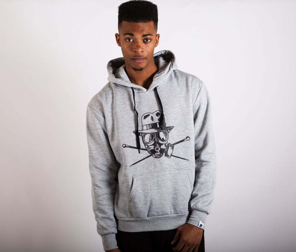 Image of Pirate Flag Hoodie Grey