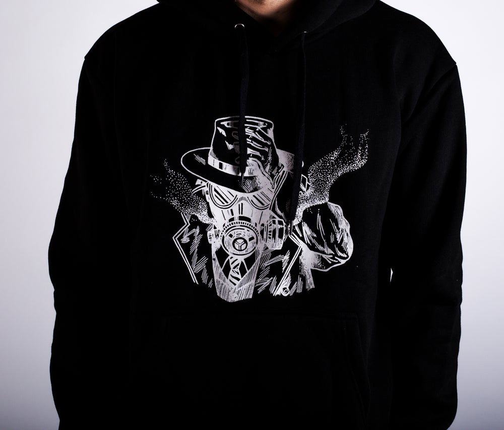 Image of Smoke Screen Hoodie Black