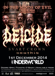 Image of DEICIDE *UK Exclusive show* @ The Underworld, London [e-Ticket]