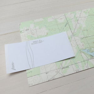 Image of world awaits you letterpress card