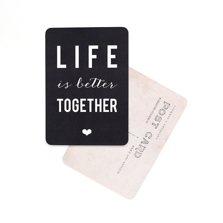 "Image of Carte Postale""LIFE IS BETTER TOGETHER / ARDOISE"""