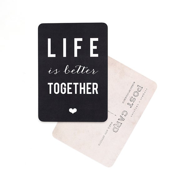 "Image of Carte Postale""LIFE IS BETTER TOGETHER / ARDOISE"""