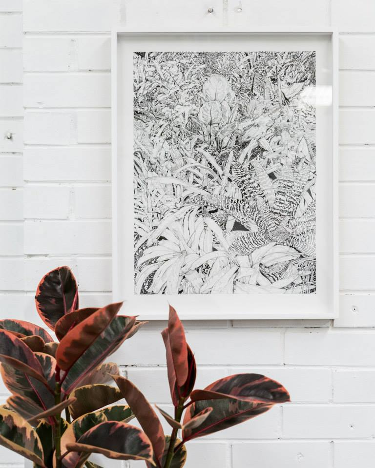 Image of Tropical Plants screen print