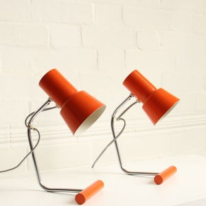 Image of Pair of Josef Hurka lights in orange