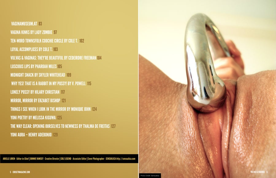Image of Corset Magazine, Issue 10, Vulvas and Vaginas (Digital)
