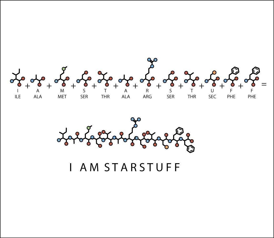 Image of I AM STARSTUFF pendant necklace