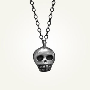 Image of Mini Skully Necklace, Oxidized Sterling Silver