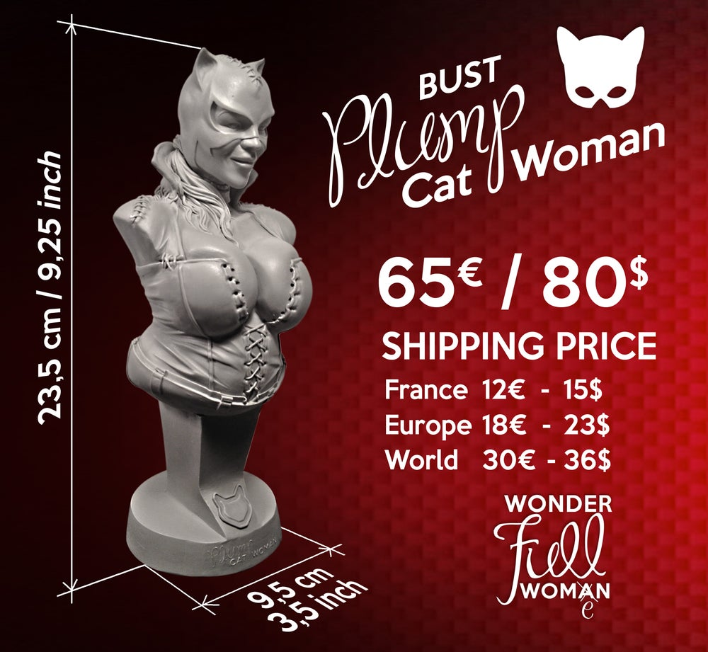 Image of Bust PLUMP Cat Woman