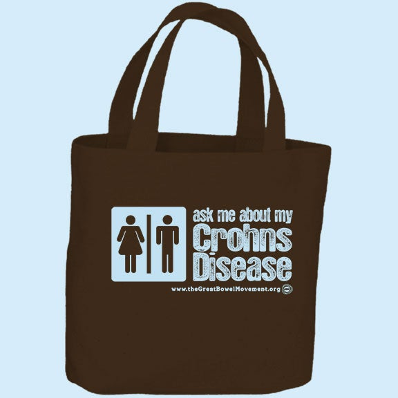 Image of Ask Me About My Crohn's Tote Bag