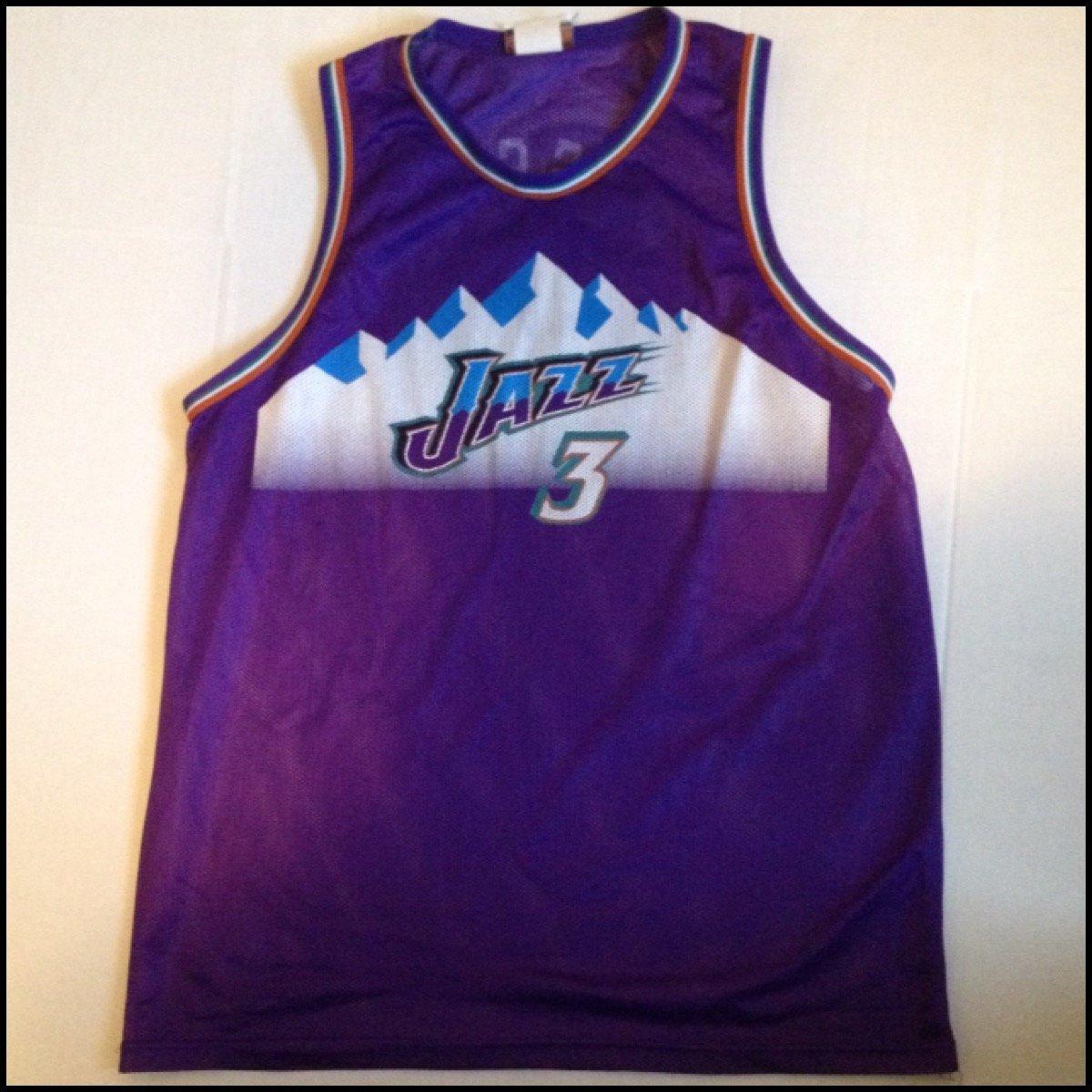 best sneakers 15077 b1aaf Vintage Utah Jazz #3 Bryon Russell NBA Jersey