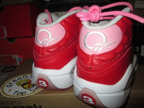 "Reebok Question Mid ""Scarlet/Light Pink"" GS - areaGS - KIDS SIZE ONLY"