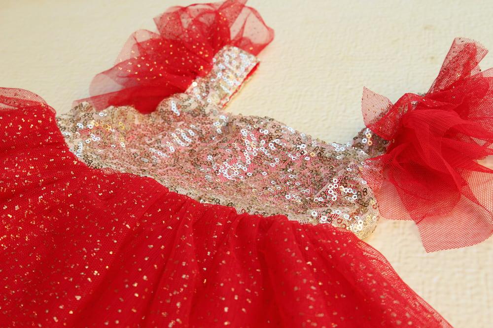 Image of Red Sparkler Dress