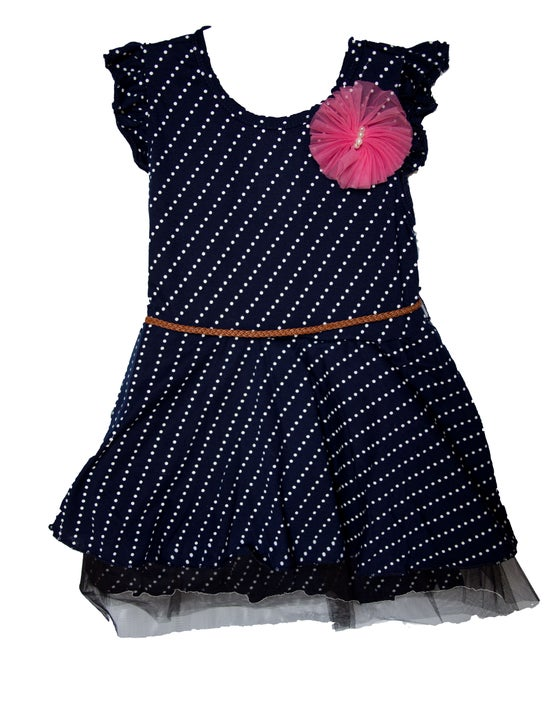 Image of Blue Polkadot Dress