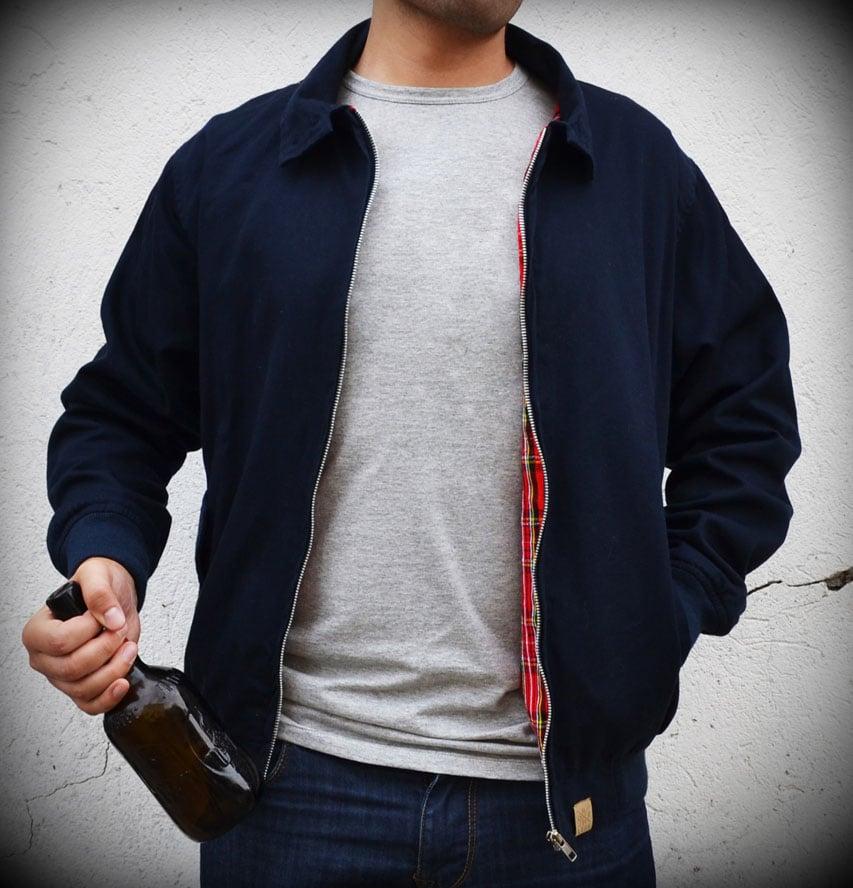 Image of Harrington Jacket Navy Blue