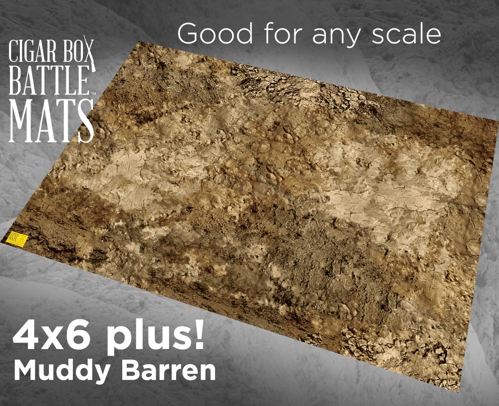 Image of Muddy Barren Battle Mat --  4'x6' plus  -- #128