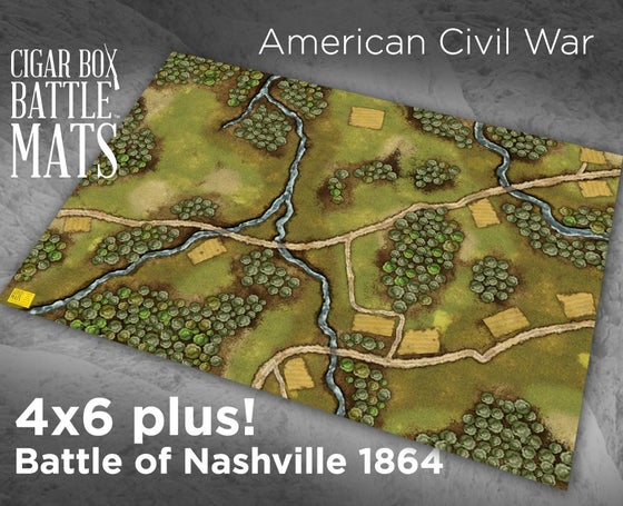 Image of Battle of Nashville Gaming Battle Mat --  4'x6' plus  -- #123