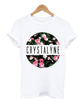 Image of Crystalyne Floral T-Shirt - Ladies