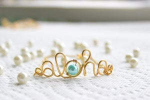 Image of Pretty in Blue Pearl Aloha Bracelet