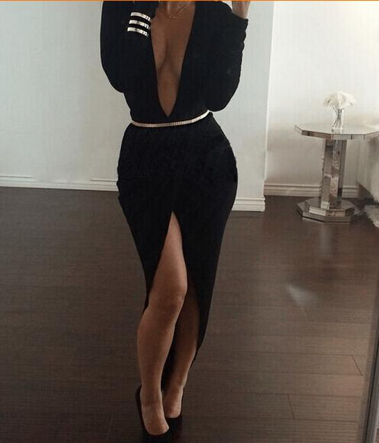 Image of SEXY DEEP V SHOW BODY HOT DRESS
