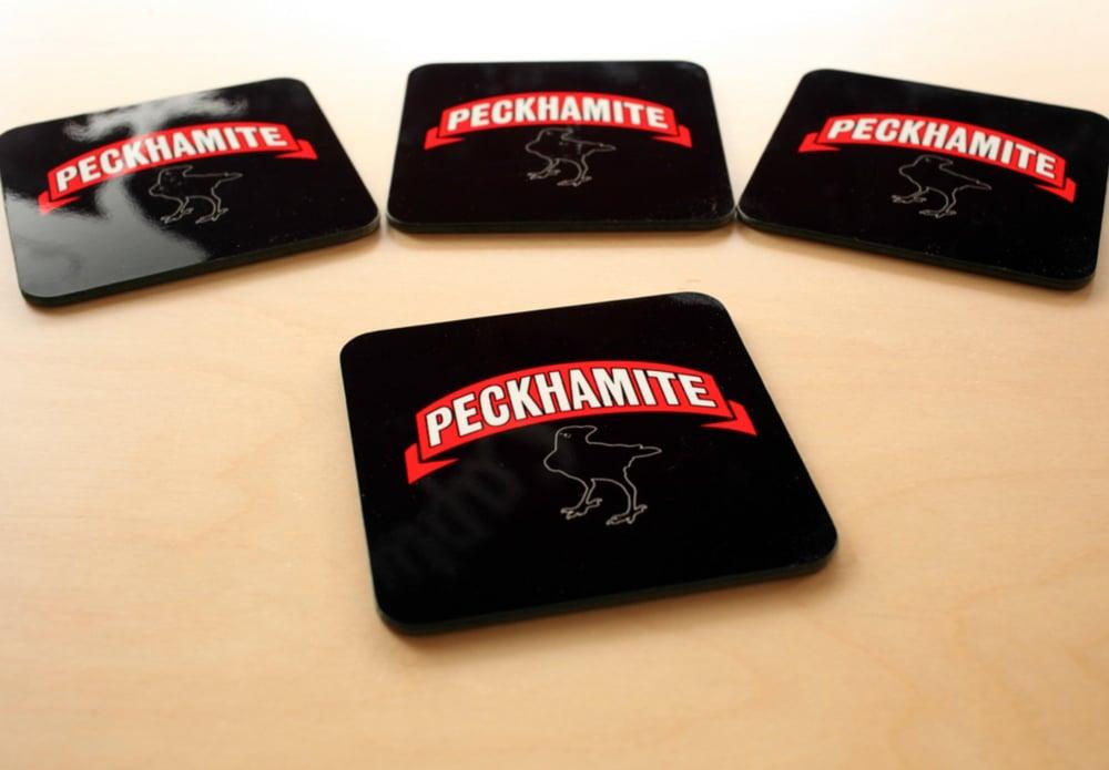 Image of Peckhamite Coaster (Black)