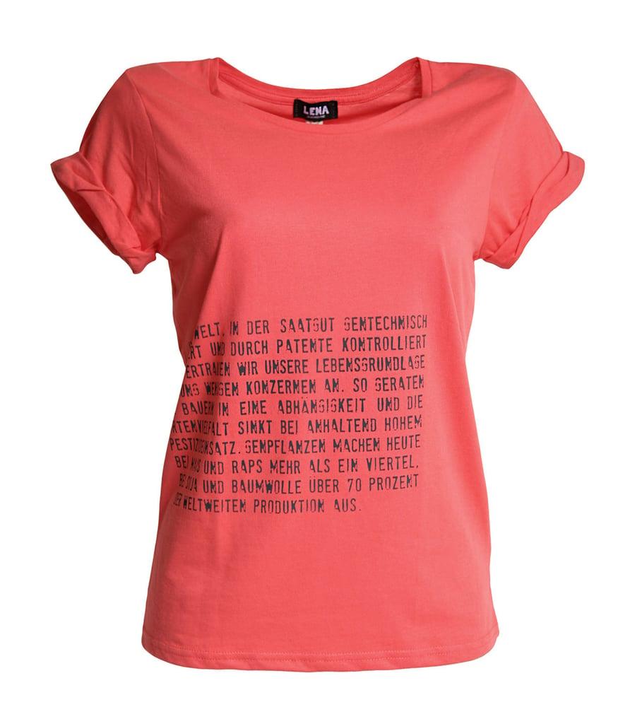 """Image of Frauen T-Shirt """"Aufklärer"""" - coral"""
