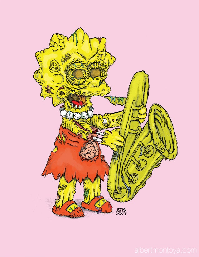 "Image of Print ""Zombie Lisa"""