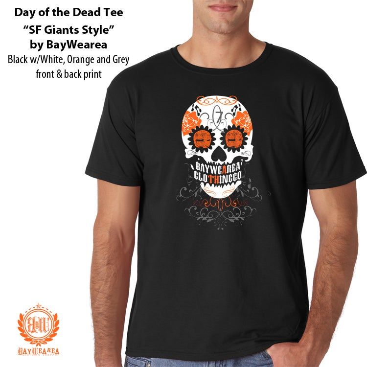 Image of Day of the Dead SF Giants Style Men's T-shirt