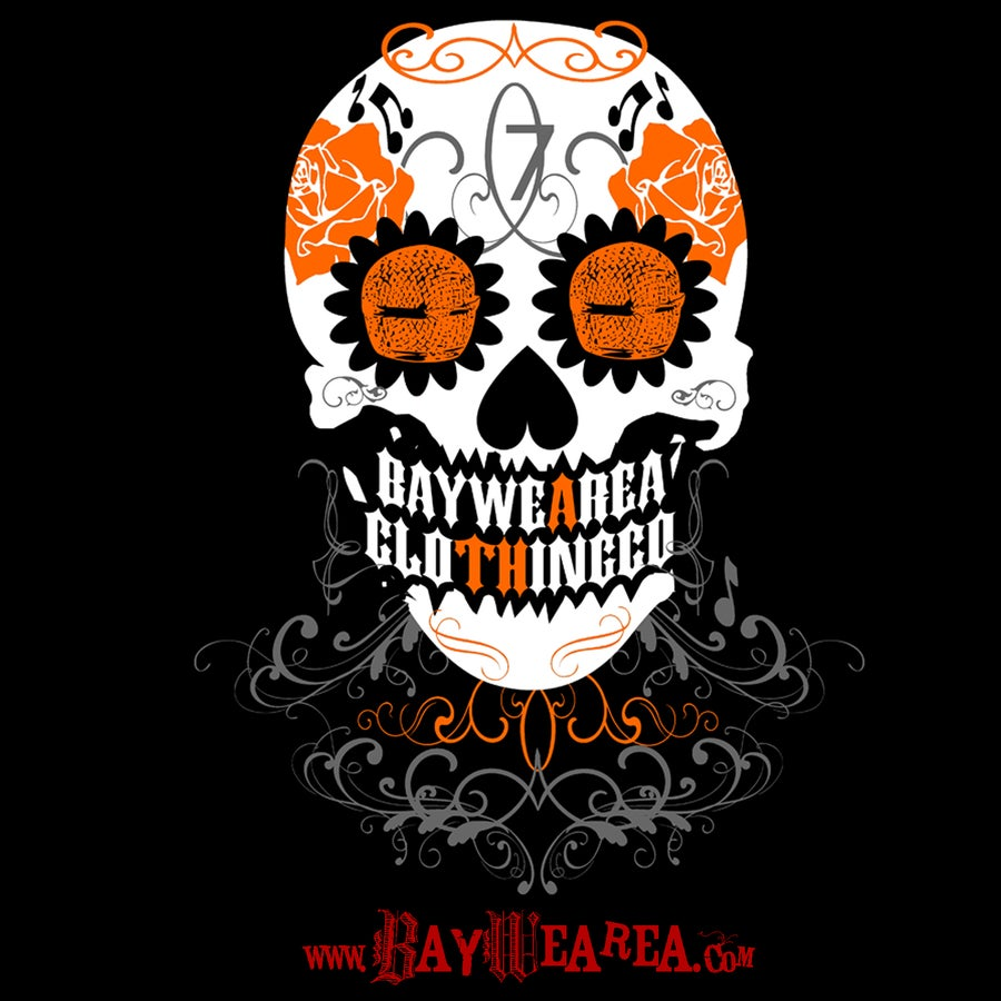 Image of Day of the Dead SF Giants Style Women's Junior Fit T-shirt