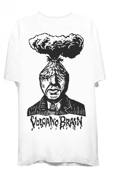 Image of VOLCANO BRAIN TEE (WHITE)