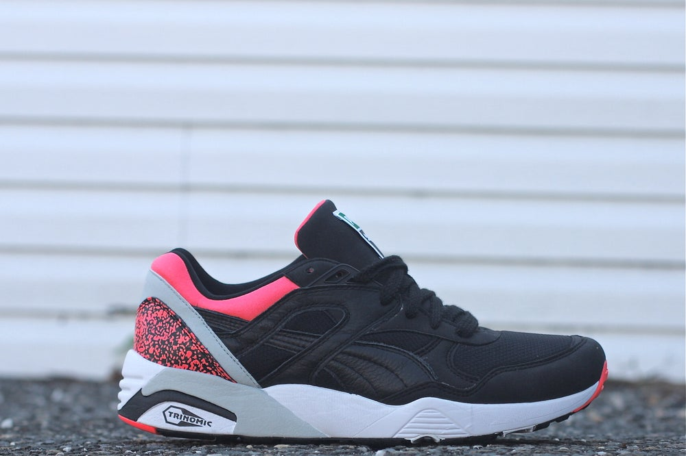 "Image of PUMA R698 OG 93' ""BLACK LAVA"" 357481 01"