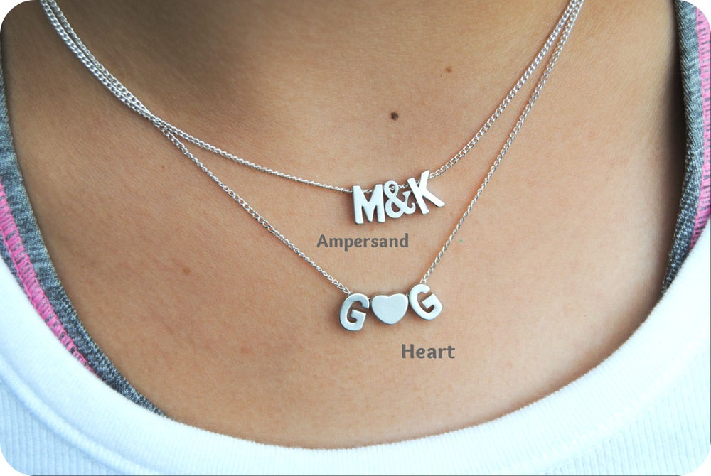 Image of As seen on Snooki Capital Letter Initial Necklace