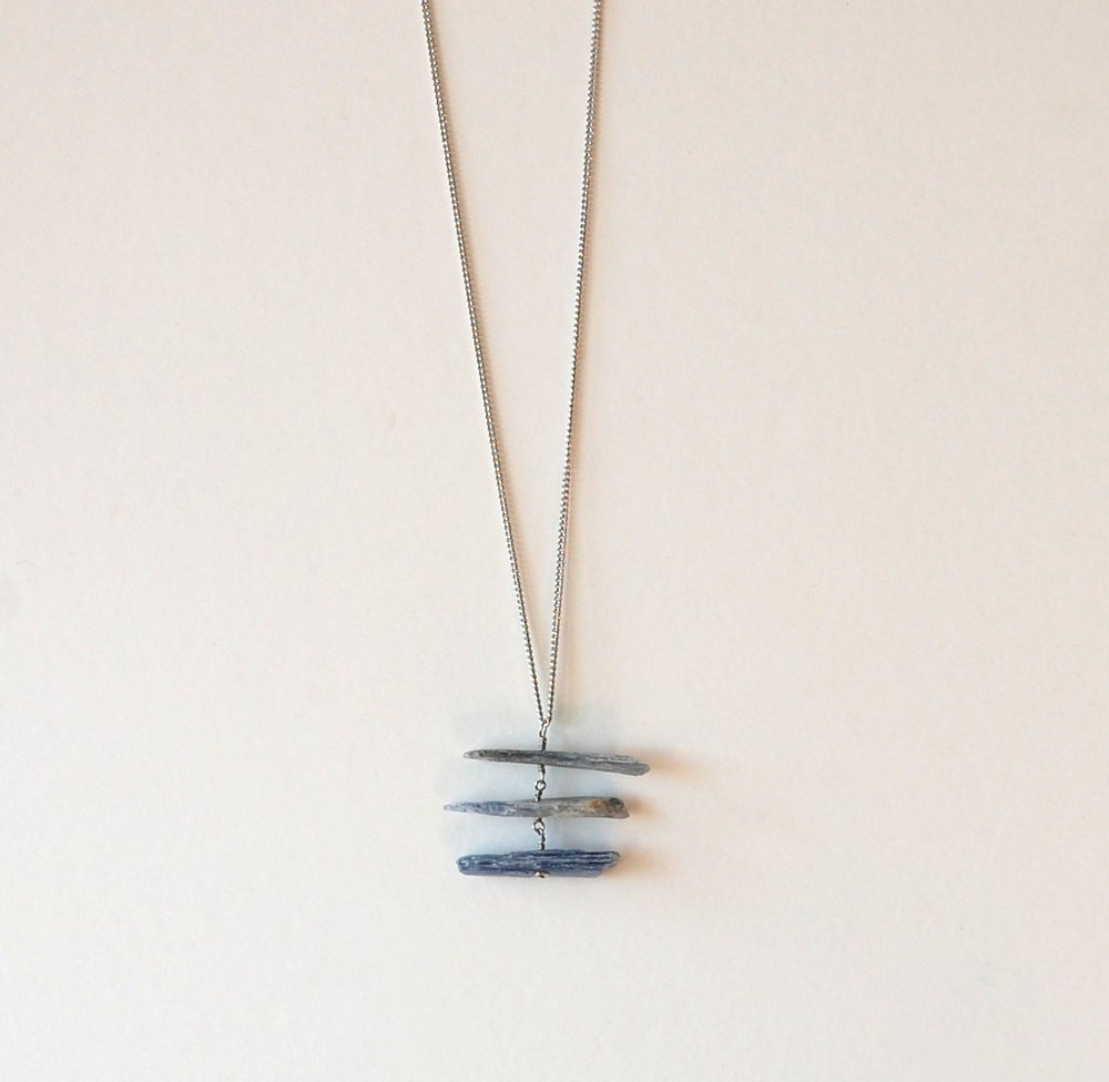 Image of Stacked Kyanite Necklace