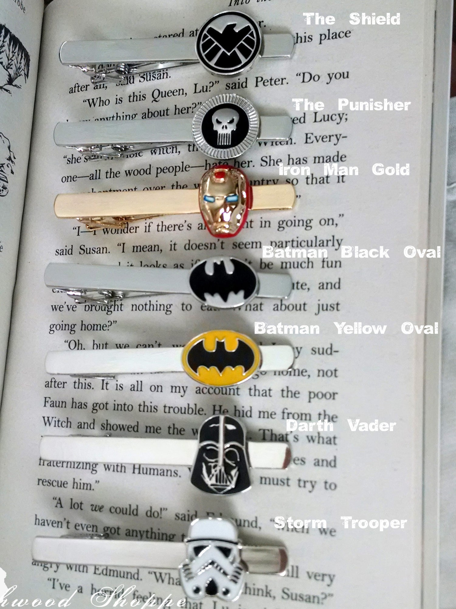 Image of Super Hero Geekery Tie Clips, 24 styles