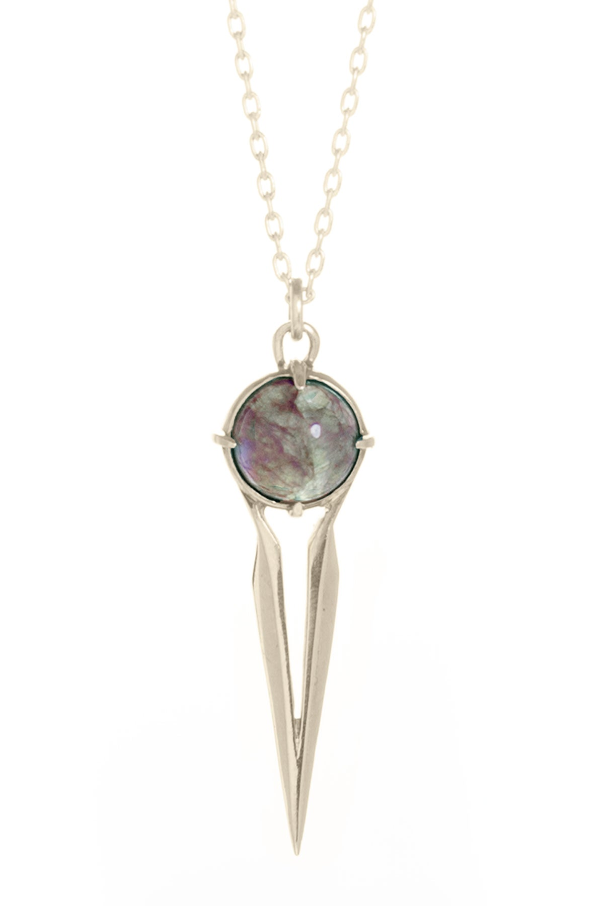 Image of LABRADORITE FALCON NECKLACE