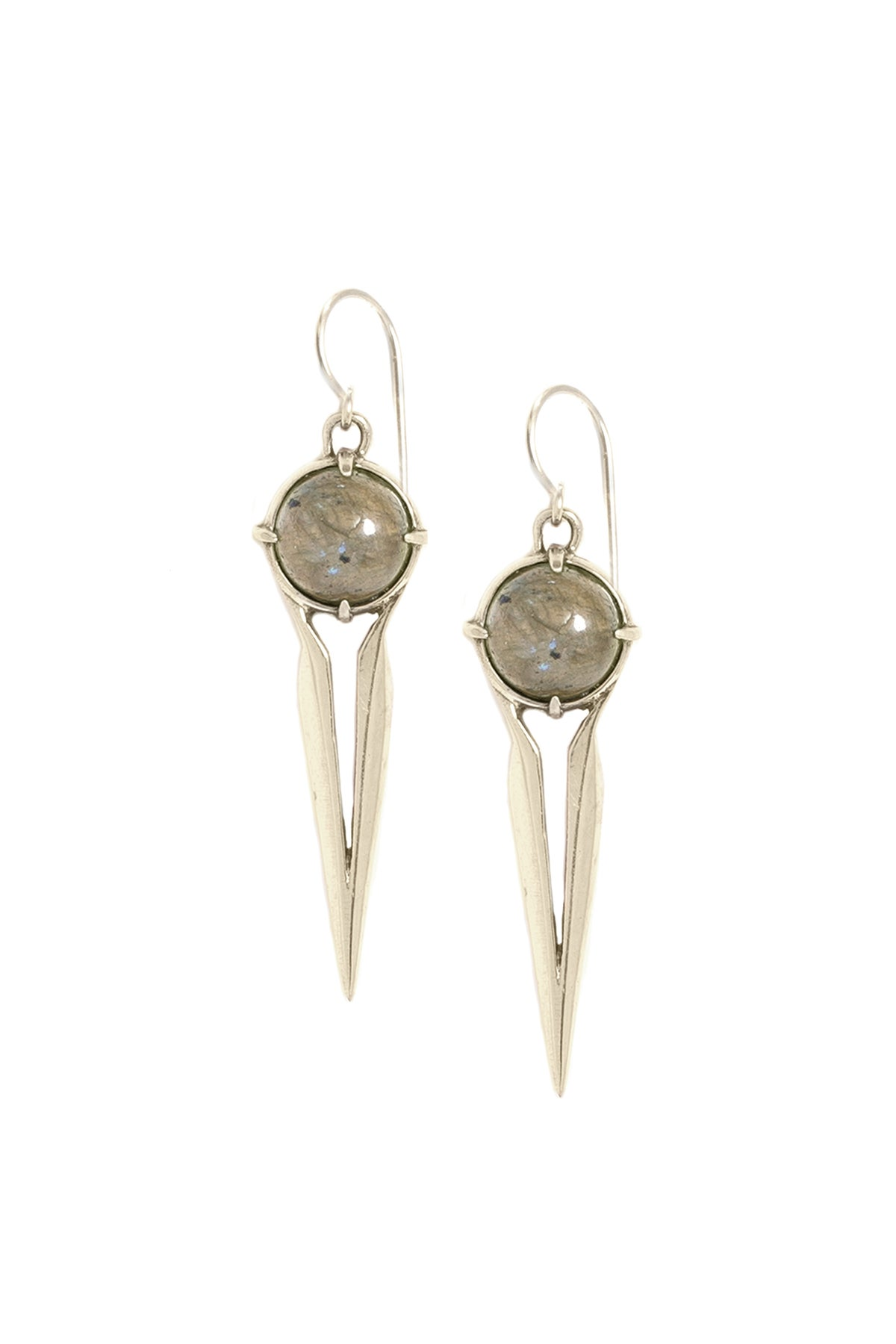 Image of LABRADORITE FALCON EARRINGS
