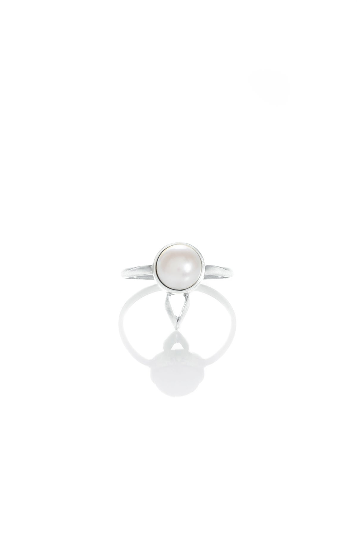 Image of PEARL MARU RING - SILVER