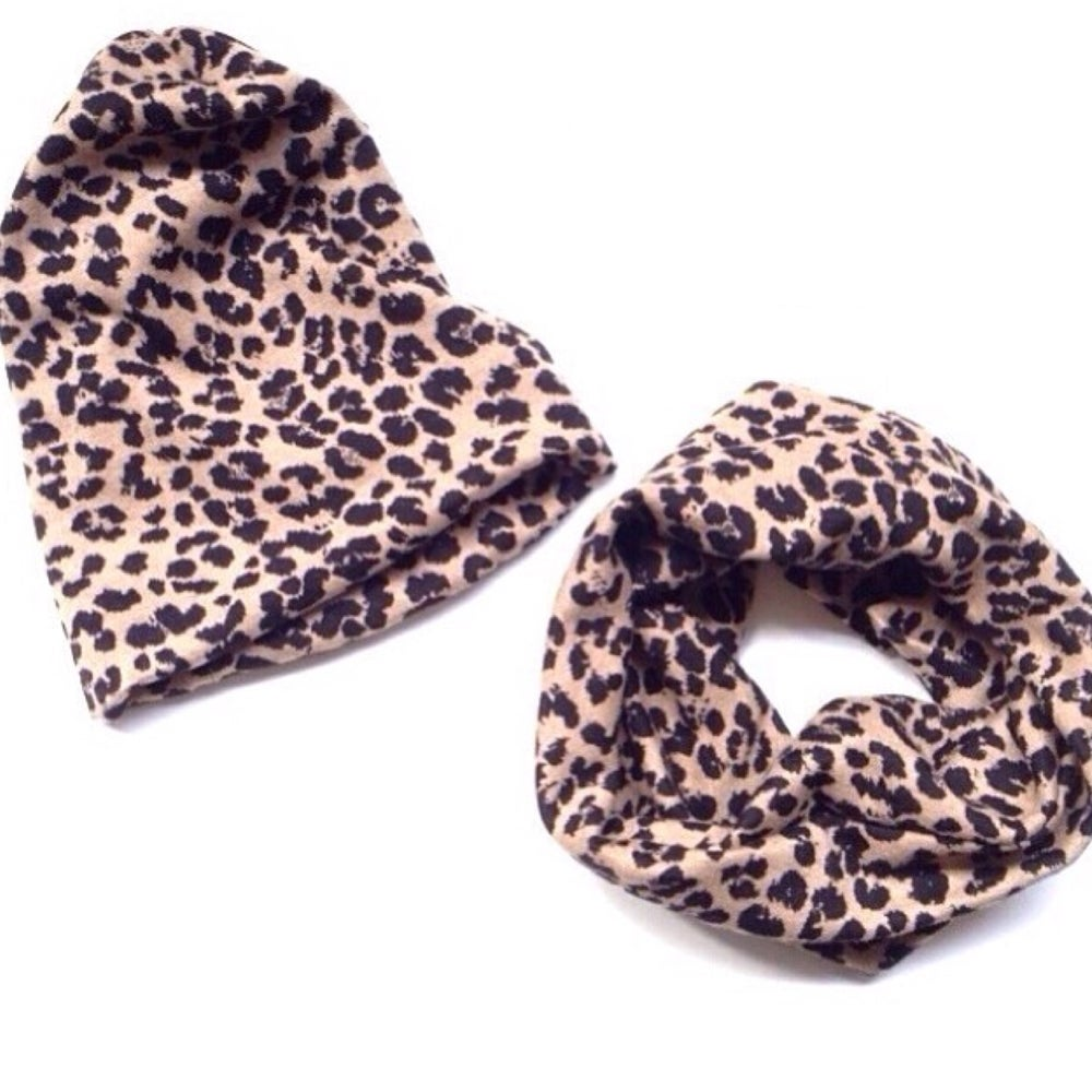 Image of HiBaby Leopard Snood and Leopard Beanie (sold separately)