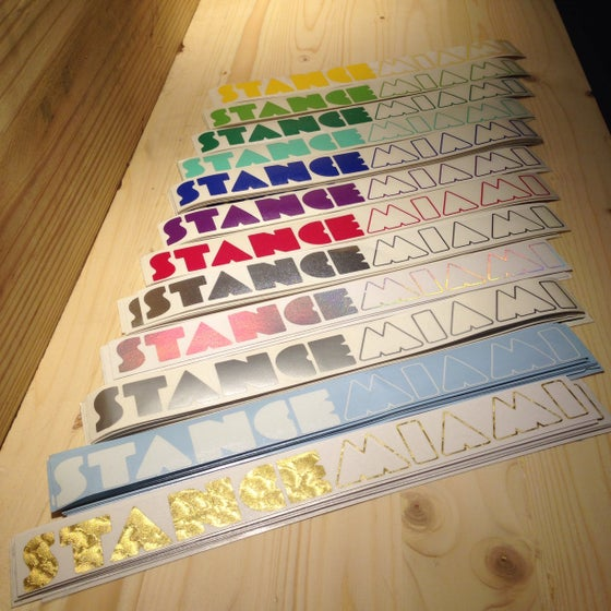 Image of Classic StanceMiami Decal ASSORTED COLORS