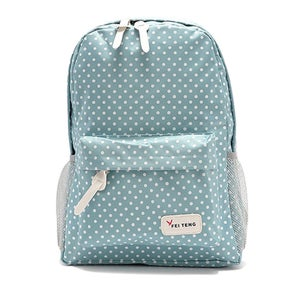 Image of [grxjy5204214]Fashion Polka Dots Canvas Backpack School Bag