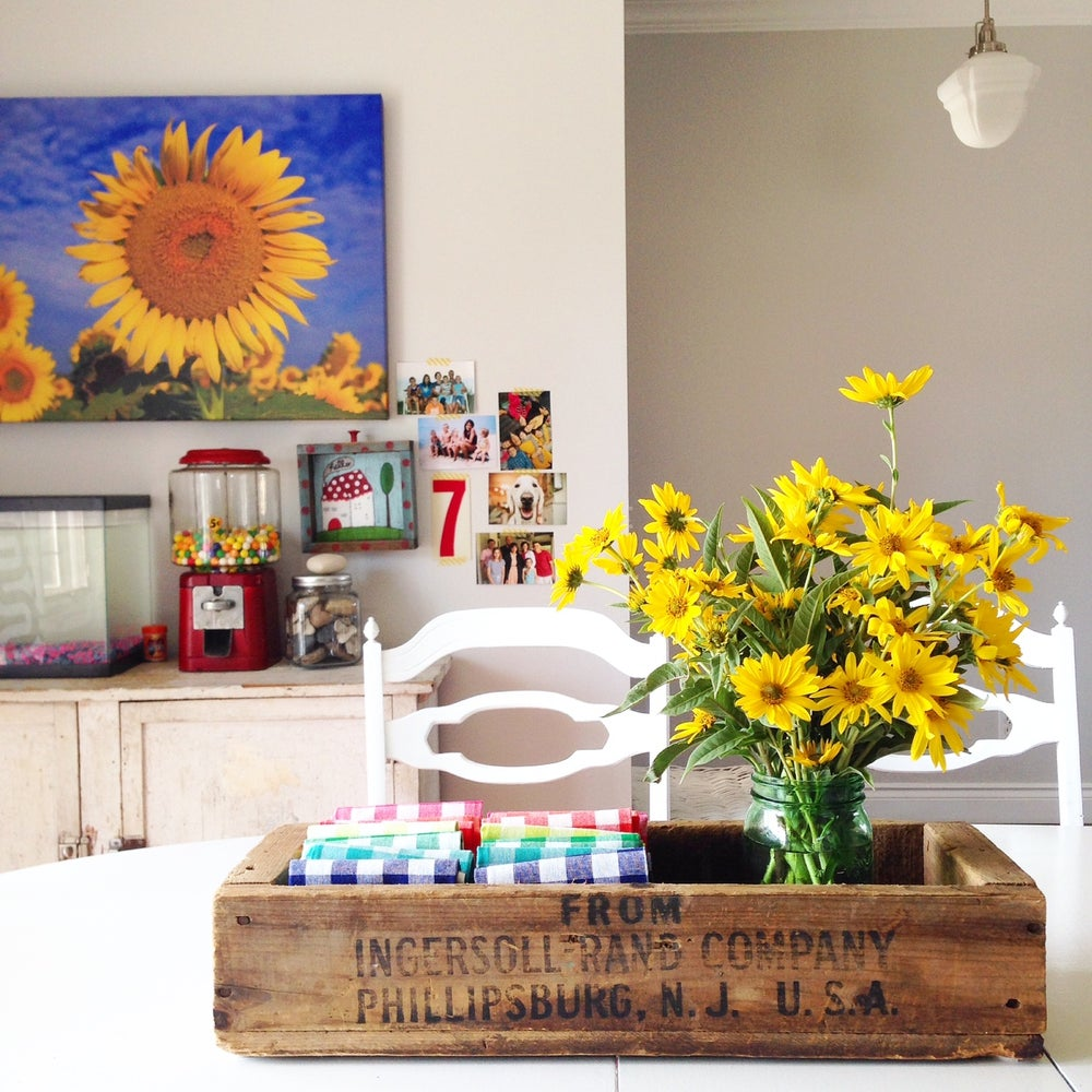 Image of Sunny Day Sunflowers Canvas Wrap