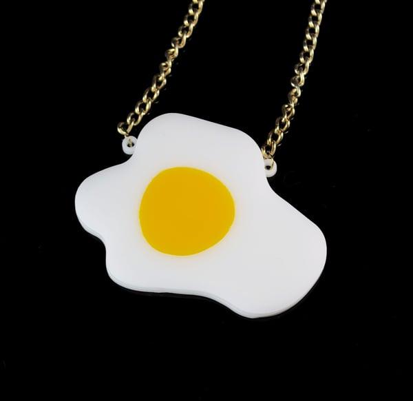 Fried Egg Necklace  - Black Heart Creatives