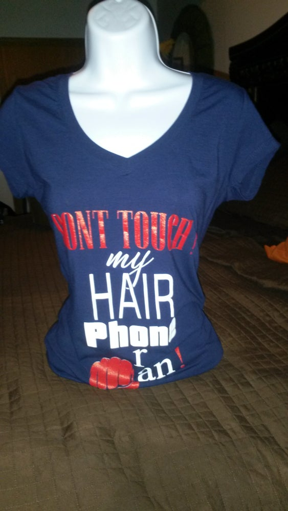 Image of DON'T TOUCH my HAIR tee short sleeve (Navy Blue)