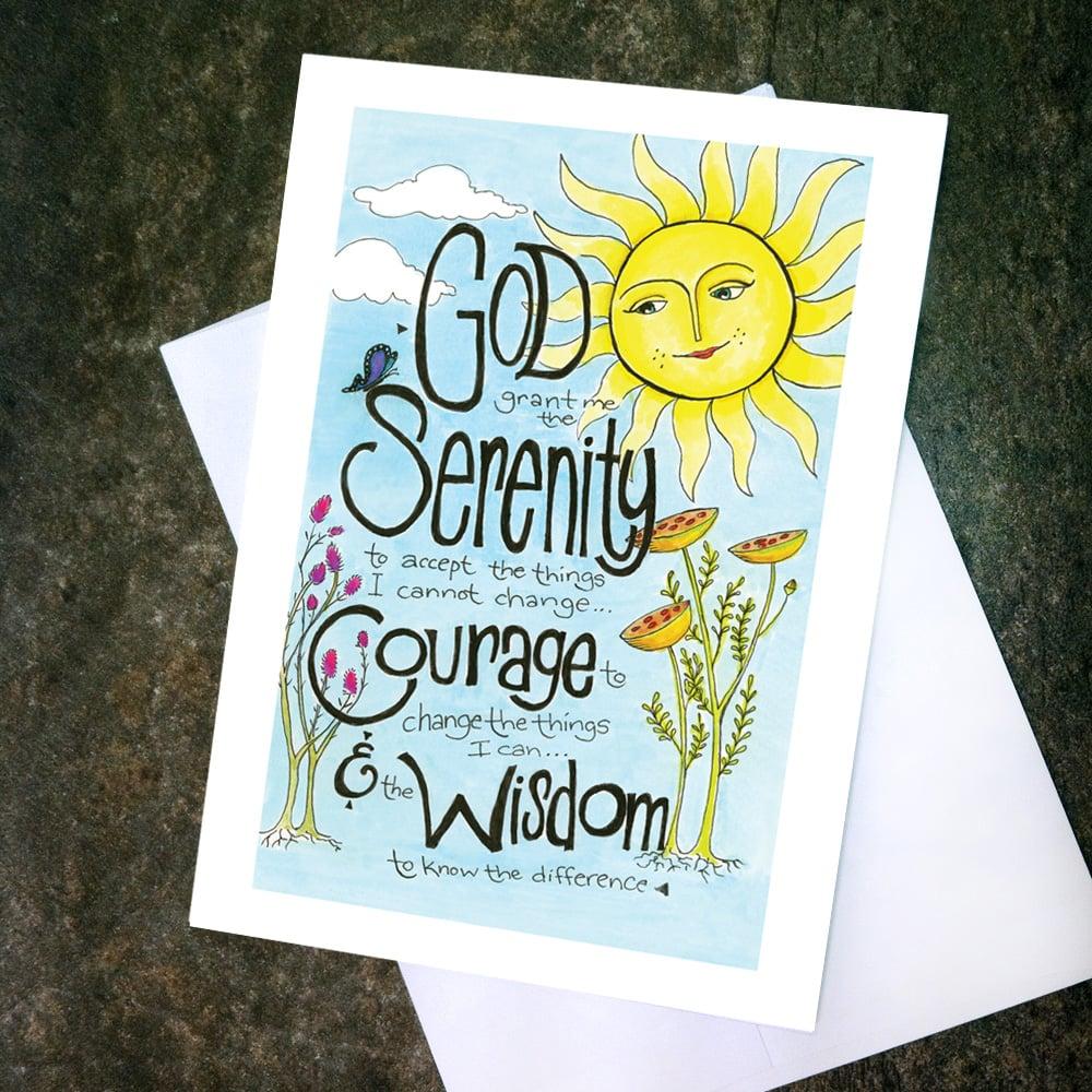"Image of Card ""Serenity Prayer - Sun"""